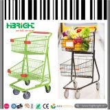 Doppelter Korb-Supermarkt-Einkaufswagen