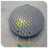재생된 UHMWPE Crane Foot Support Plate/Crane를 위한 600 x 600 x 40 mm HDPE Crane Leg Protection Pad 또는 Crane Support Plate
