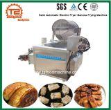 Snack-Máquinas Semiautomáticos fritadeira eléctrica da máquina de fritura de banana