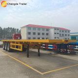 3 Axel 40ft 평상형 트레일러 트럭 트레일러 Chengda 상표