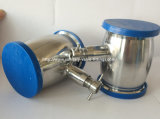 Stainless sanitario Steel Tri Clamped Check Valve con Drain