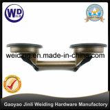 Dois copos do tirante de vidro de aço Wt-3802 dos copos da sução/sução