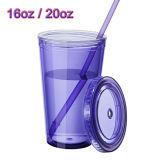 アクリルのタンブラーのプラスチックタンブラーの昇進のタンブラージュースのタンブラーのプラスチックマグによって絶縁されるプラスチックマグ