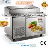 Refrigerador da bancada da pizza de S/S com bandejas do indicador