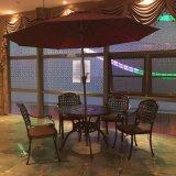鋳造アルミのテラスおよび庭の表および椅子
