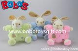 """5.9 """" 안전은 반지 가르랑거리는 소리를 가진 장난감 견면 벨벳 녹색 토끼 토끼 아기 장난감을 아장아장 걷는다"""