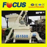 Misturador concreto do eixo horizontal dobro concreto popular da máquina Js1500