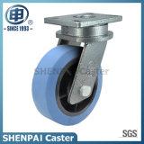 """De """" roda rígida de nylon azul do rodízio do núcleo ferro 12"""