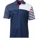 Moderne Sublimation der Männer druckte Polyester-Polo-Hemd 100% mit kundenspezifisch anfertigen