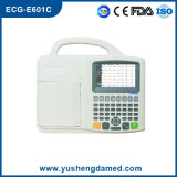 El ECG-E601c Ce aprobó seis canales de la máquina de ECG portátil digital