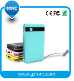 Banco profesional de la energía del cable del USB 8000mAh del profesional