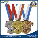 Progettare la medaglia per il cliente di sport del bronzo dell'argento dell'oro 3D