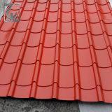 Colorer le feuillard ridé en couvrant la feuille pour le toit et le mur