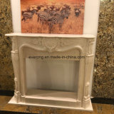 De goedkope Moderne Afdekplaat van de Open haard van de Steen van het Ontwerp Marmeren voor Binnenlandse Decoratief