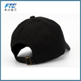 3D刺繍の帽子が付いているOEM 6のパネルの綿の野球帽