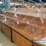Акрил питание конфеты торт контейнер для отображения супермаркет