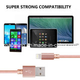 Câble tressé de tissu en nylon durable de la qualité USB pour l'iPhone avec Ios10
