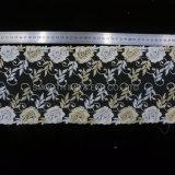 Vestir Net Flor de hilados textiles tejidos de encaje bordado Water-Soluble