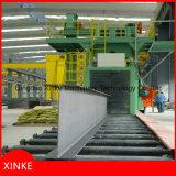 Rodillo a través del tipo máquina del chorreo con granalla de la estructura de acero
