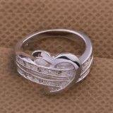 Silver-Color мелочь сердца любовь женщин свадебные кольца