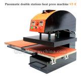 Bandierina della pressa di scambio di calore di 2 Digitahi delle stazioni e stampante calde termiche pneumatiche della tessile dei vestiti