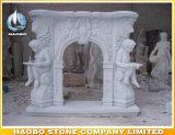 Bordi greci romani del camino intagliati statua di pietra