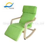 De Veilige Comfortabele Houten Schommelstoel van de vrije tijd