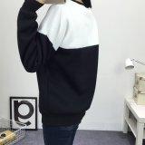 Черный и белый пэтчворк заклинание цвета Джерси Sweatshirt Hoodies женщин