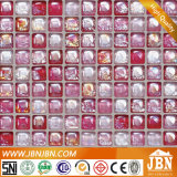 Glasmosaik, rosafarbene Farbe, Glanz glasierte (L1425002)