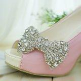 Оптовая торговля моды, прозрачный зажим на обувь со стразами орнамент с Парижем замков задних ремней безопасности для проведения свадеб обувь
