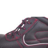 Zapatos de seguridad antis de la rotura violenta de la punta de acero negra para trabajar