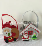 クリスマスの装飾袋のフェルトの物質的なクリスマスのギフト袋