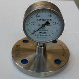 De nieuwe Manometer van de Maat van de Druk van het Roestvrij staal van het Type met Flens