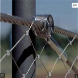 ステンレス鋼のFerruled飼鳥園ワイヤーロープケーブルの動物園の網