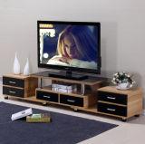 Самомоднейшее ориентированное на заказчика стучает вниз деревянной стойкой TV с 6 ящиками