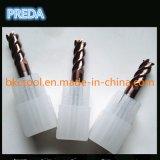 Metal duro recubierto de 4 flautas molinos de extremo planas largas flautas