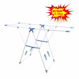 Blue Color Clothes Drying Rack with Shoe Racks (JP-CR109PS)