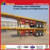 3-Axles 60 Tonnen 40FT Flachbett-Plattform-Behälter-halb Schlussteil-