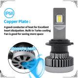 최고 광도 9600lm LED 헤드라이트와 LED 일 빛 (H1 H3 H4 H7 H11 H13 9005)를 가진 공장에서 하는 자동차 부속용품