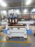 Sysem空気のマルチスピンドルCNCの木製の切り分ける機械、ルーター機械木、回転式の2つのヘッドCNCのルーター