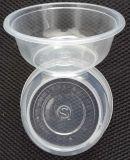 12oz 350ml Wegwerf-pp. Plastikfilterglocke-Nahrungsmittelbehälter mit Kappe und Firmenzeichen
