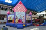 Videur gonflable bon marché commercial de vente chaude, château plein d'entrain sautant avec la glissière