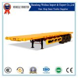China 3 reboques Flatbed do recipiente do eixo 60t
