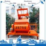 Auto Js750 que carrega o misturador concreto com o elevador