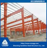 Одно здание стальной структуры рассказа с строительным материалом для мастерской