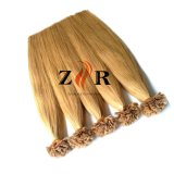 Extensões desenhadas do cabelo da queratina de Preboned da qualidade da cutícula do cabelo de Remy dobro chinês