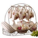 Conjunto de jantar bone china de chá em cerâmica fina Chá Bone China Café
