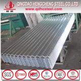 Hoja acanalada de la azotea revestida de aluminio del metal del cinc