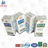 Caixa asséptica que empacota para bebidas de leite