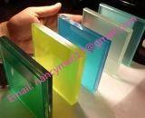 vidrio laminado de 6.38m m/vidrio azul/reflexivo claro/del color/del verde/del azul/del lago